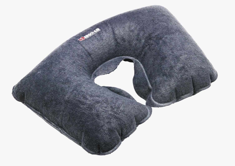 gris voyage cou coussin de confort avion voiture de train gonflable petite. Black Bedroom Furniture Sets. Home Design Ideas