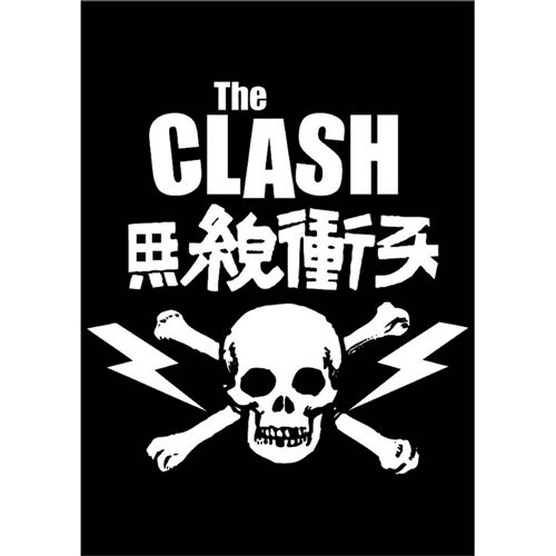 The Clash Skull Crossbones Band Logo Postcard Image