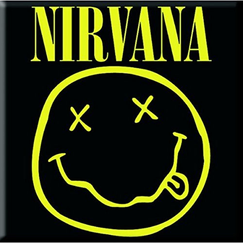 Nirvana Metal Im 225 N Sonriente De La Cara Negro Amarillo