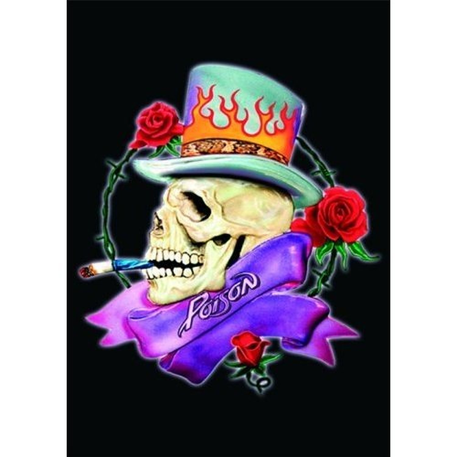 Poison Smoking Skull Band Logo Postcard Picture Album