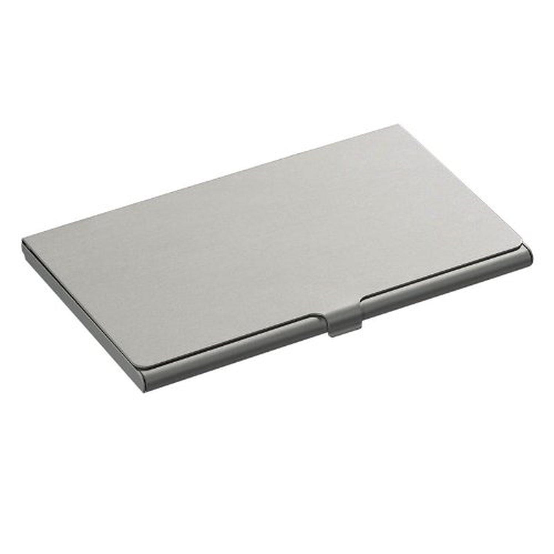 Metal Business Card Holder Credit Coins Slim Snap Shut Pocket ...