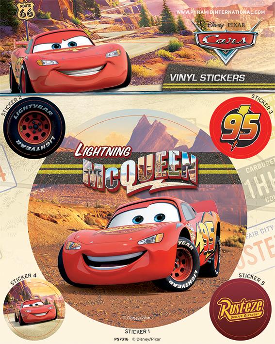 Cars Lightning Mcquuen Set Of  Vinyl Stickers Decals Official - Custom vinyl stickers 1 x 2