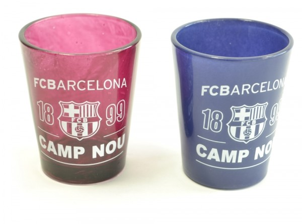 FC Barcelona Football Club Two Pack Home Team Shot Glasses 40ml Official Product