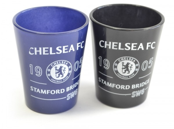 Chelsea Football Club Two Pack Home Team Shot Glasses 40ml Official Product