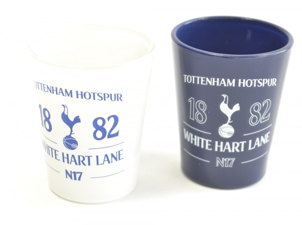 Tottenham Hotspur Spurs FC Football Club Shot Glasses 2 Pack Official