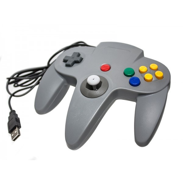 Nintendo N64 USB Controller Classic Style Grey Gamepad For PC / MAC / Laptop / Tablet