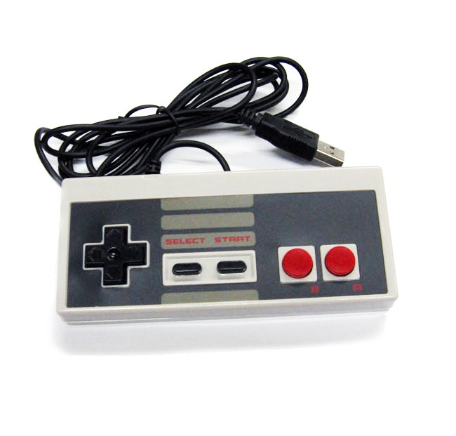 Nes Nintendo USB Controller Classic Style Grey Gamepad For PC / MAC / Laptop / Tablet