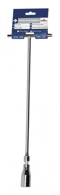 Car Engine Spark Plug Wrench Spanner Tool Long Key Steel T Handle Flexi Head