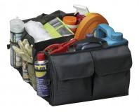 Jumbo Car Boot Organiser Bag Tidy Base Carpet Rear Black Net Pocket