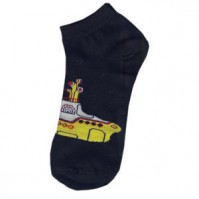 The Beatles Yellow Submarine Logo Black Ladies Girls Low Cut Socks 4-7 Official