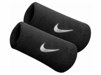 Nike Swoosh Black Double Sports Sweat Wristbands Tennis Football Official