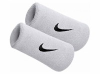 Nike Swoosh Double Sports Sweat Wristbands Set Of 2 Tennis Football Official