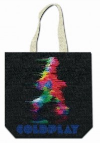 Coldplay Every Teardrop Is A Waterfall Tote Black Shopping Bag Satchel Official