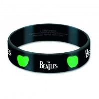 The Beatles Gummy Band Drop T Apple Black White Bracelet Official Merchandise