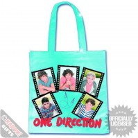 One Direction Sky Blue Photo Film Strip Tote Shopping Bag For Life Gift Official