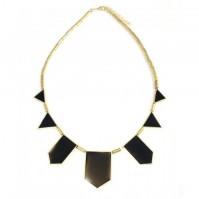 Black Gold Geometric Fashion Necklace Pendant Choker Chic Tribal European Style Womens Ladies Triangle Vintage