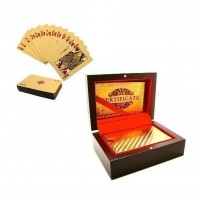 Luxury Gold Plated Flexible Poker Playing Cards With Lined Gift Box And Certificate