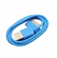 2 x Blue iPod iPhone Cable USB Charger Wire Cord 3G 3GS 4 4G 4GS Apple Touch iPad