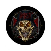Slayer Wehrmacht Circular Round Back Patch Sew On Official Badge Band Rock