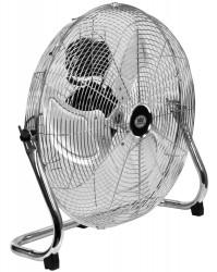 "18"" 45 cm High Velocity 3 Speed Air Circulator In Chrome Cooling Fan Adjustable Tilt Head"