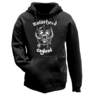 Motorhead Black Hooded Top England Hoodie Band Rock Classic Official S