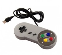 Snes Super Nintendo USB Controller Classic Style Grey Gamepad For PC / MAC / Laptop / Tablet
