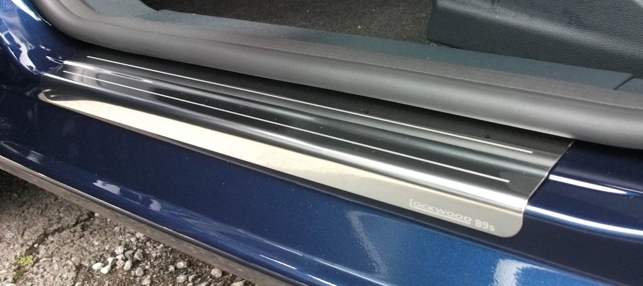 Ford Fiesta Mk7 2008+ Chrome Door Sill Protectors 4 Door Kick Plates  Polished Stainless Steel