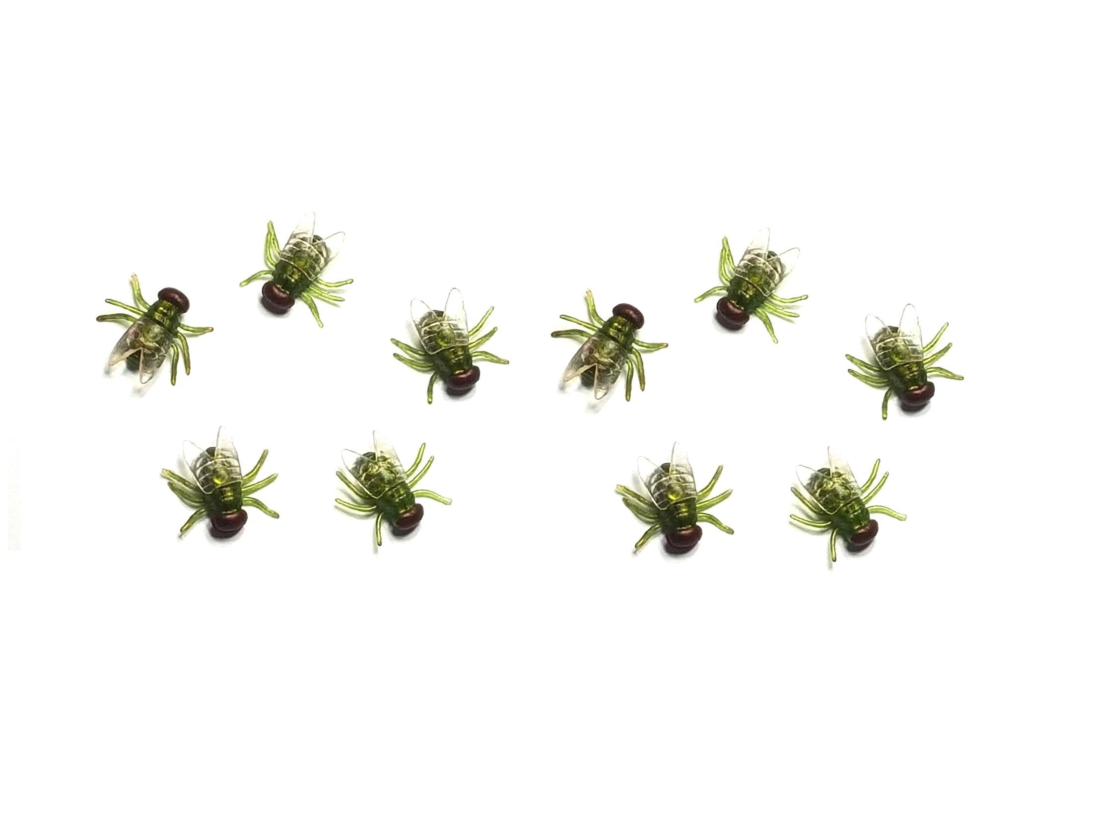 10 x mosche verdi bug scherzo divertente scherzo - Mosche verdi ...
