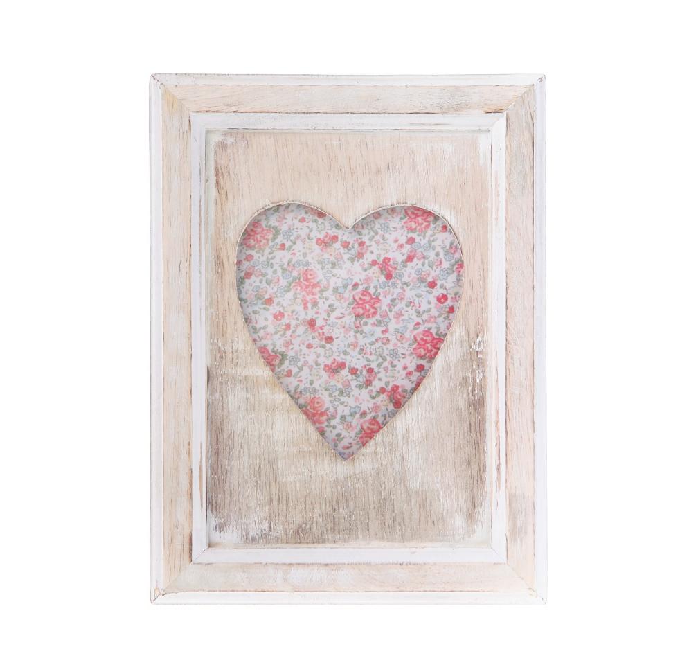 Effet en bois un seul coeur portrait cadre permanent for Fenetre un seul vantail