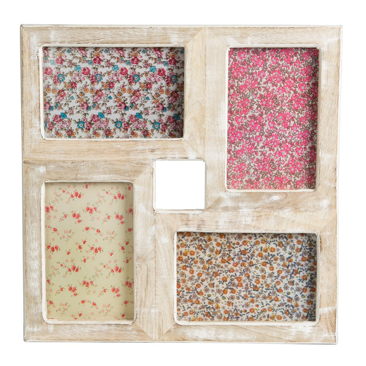 Square Collage Rustic Wood Photo Frame White Farmhouse