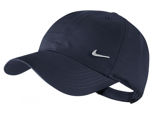 Nike H86 Youths Metal Swoosh Design Cap Hat Navy Peak Sports Official  Product 6d547e29ddd8