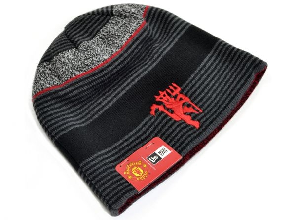 New Era Manchester United Football Club Official Reversible Knitted Beanie  Hat 315c52977bd