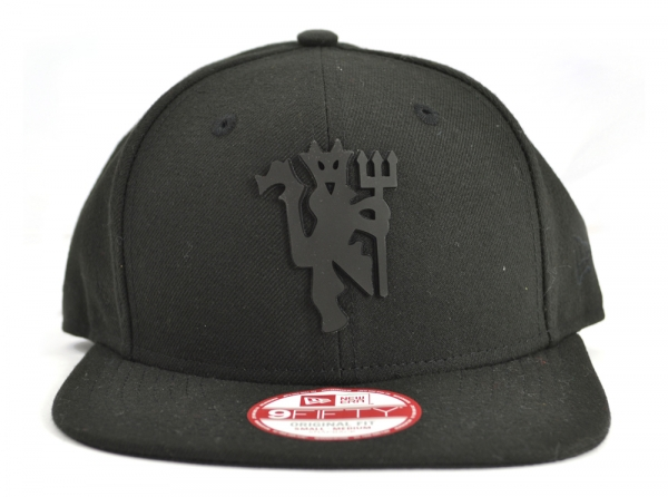 825c76d0e Details about Manchester United Football Club Black New Era 9FIFTIY  Snapback Black Devil M/L