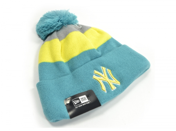 a7493c5d7dc ... inexpensive from new era is this mens contrast striped bobble hat for  the new york yankees