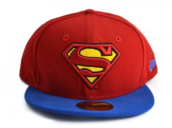 New Era Baseball Cap Blue Red Superman 59Fifty 7 1 4 Visor Fitted ... 9b340ef5d90