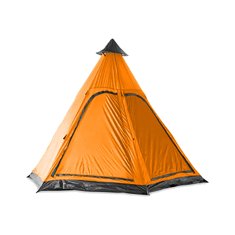 Milestone Camping Orange Two Person 2 Man Teepee Tent Sewn Groundsheet Festival