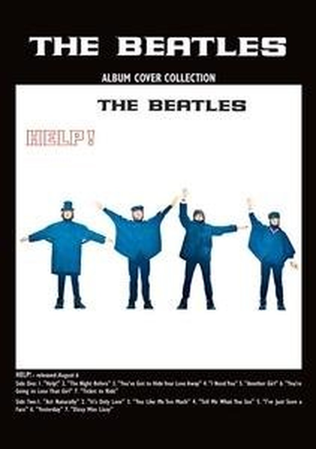 Details about The Beatles Help Album Cover Postcard Fan Gift Idea 100%  Official Merchandise