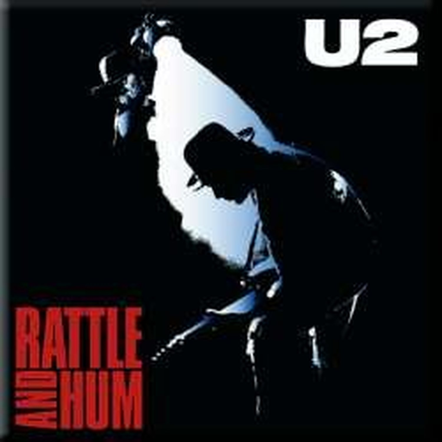 U2 Metal Steel Fridge Magnet Rattle And Hum Album Cover