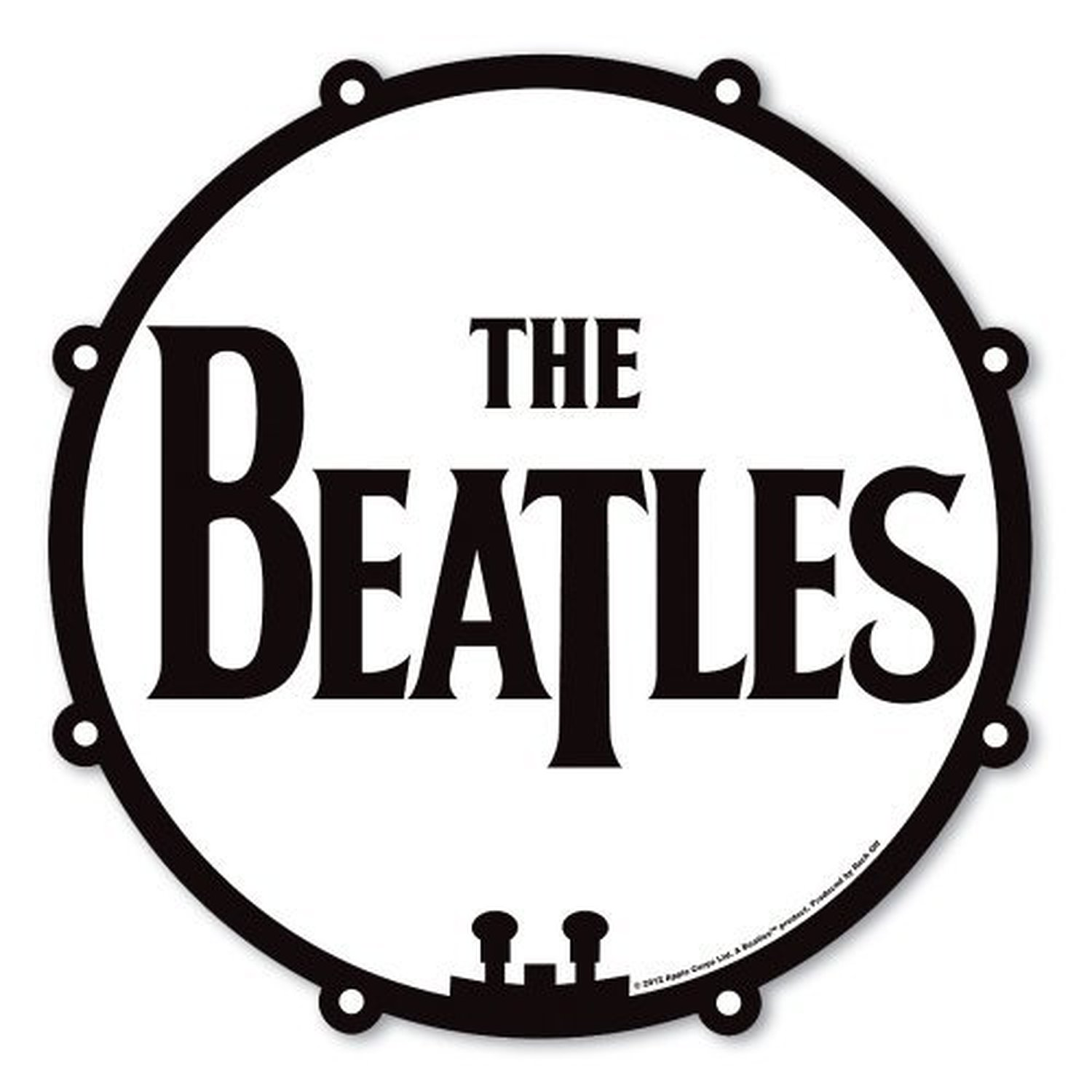 The Beatles Drum Logo Drop T Black White Mouse Mat Gaming Pad