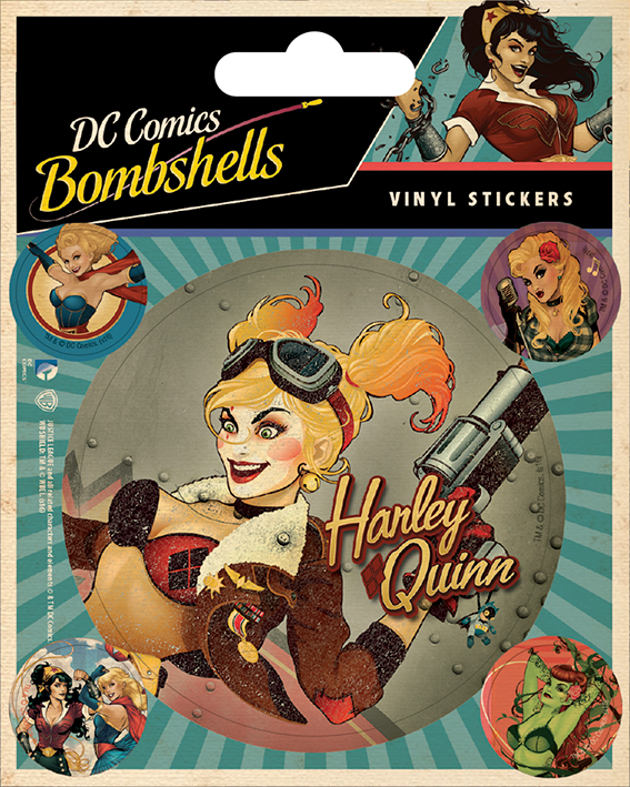 VINYL STICKERS 5 PACK BY PYRAMID PS7278 DC COMICS BOMBSHELLS