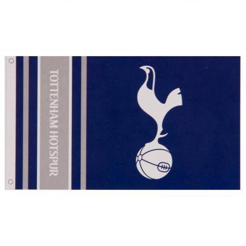 Tottenham Hotspur Spurs FC Football Club White Blue Striped Scarf Badge Crest
