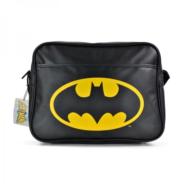 de35ed8ff46b Batman Logo Bat Sign Retro Satchel Shoulder School Bag Black ...