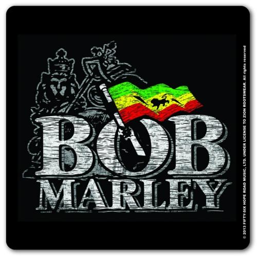 Bob Marley Distressed Logo Individual Coaster Cork Drinks ...