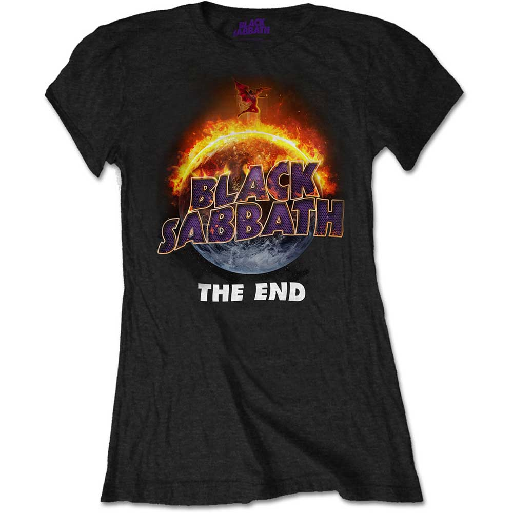 Negro De End Oficial Black Sabbath P Damas Corta Para Camiseta Manga Detalles Rock The 5qAjLSc43R