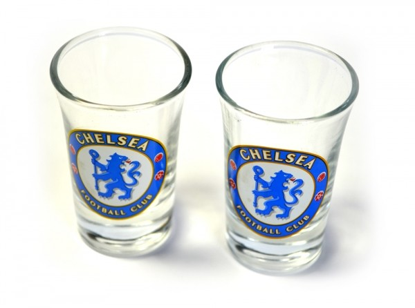 Chelsea Shot Glasses 2 Pack Official Football Merchandise