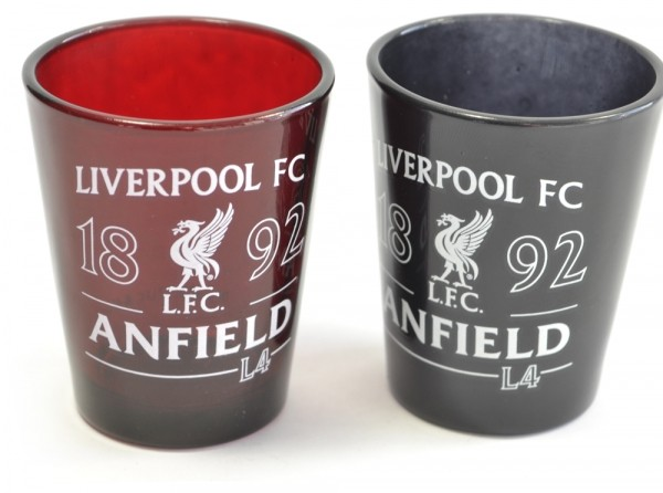 Liverpool FC Football Club Shot Glasses 2 Pack Anfield Liver Bird Official