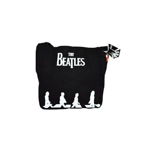 The Beatles Abbey Road Black White Shopping Shoulder Tote Bag Album Official
