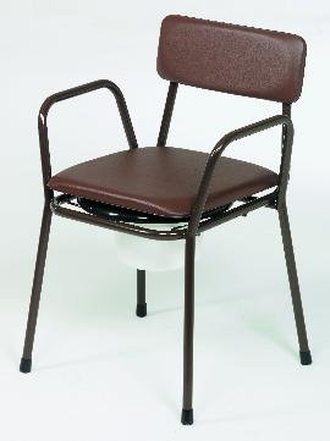 Stacking Commode with Padded Back and Seat