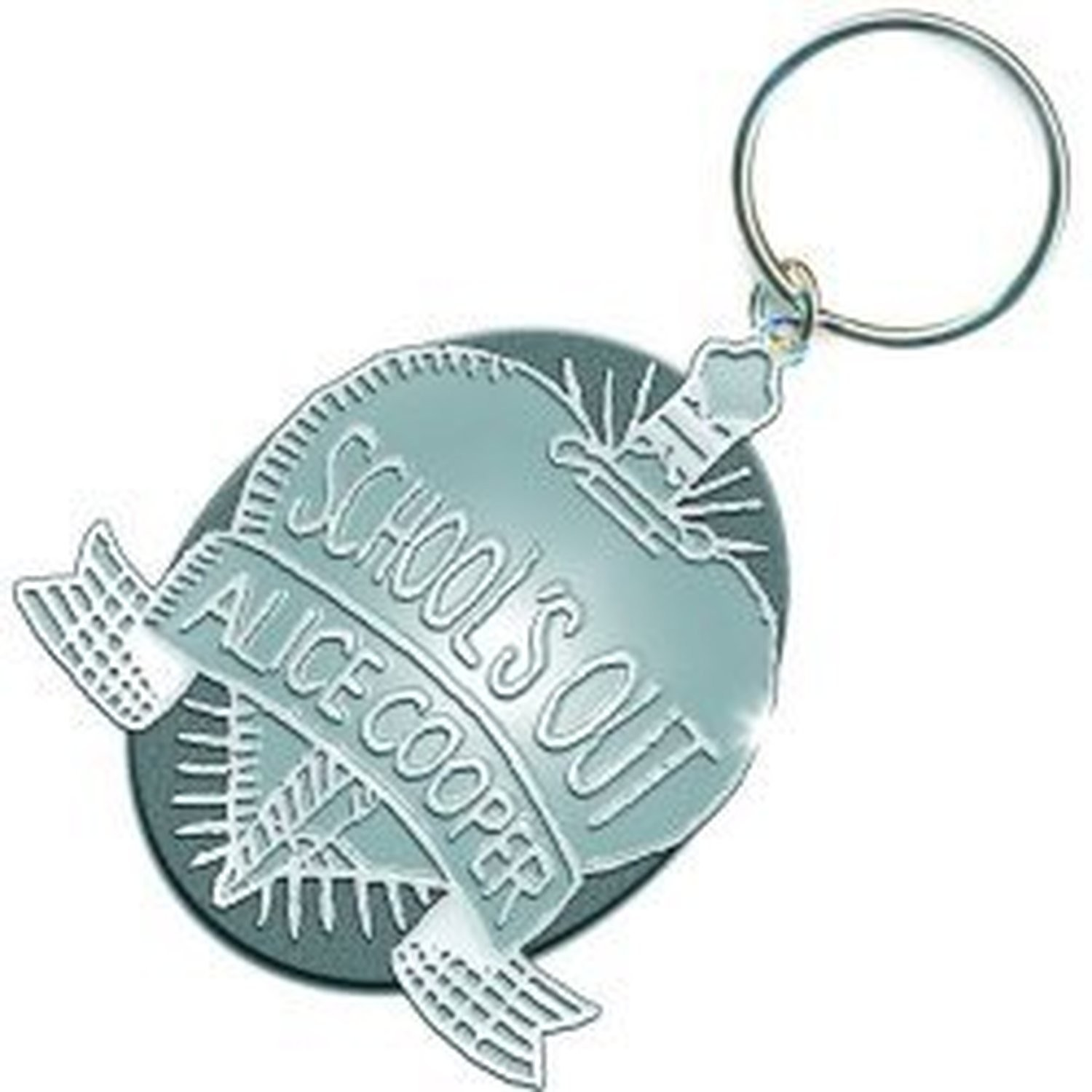 Alice Cooper Schools Out Crest Band Logo Metal Keychain Keyring Gift Official