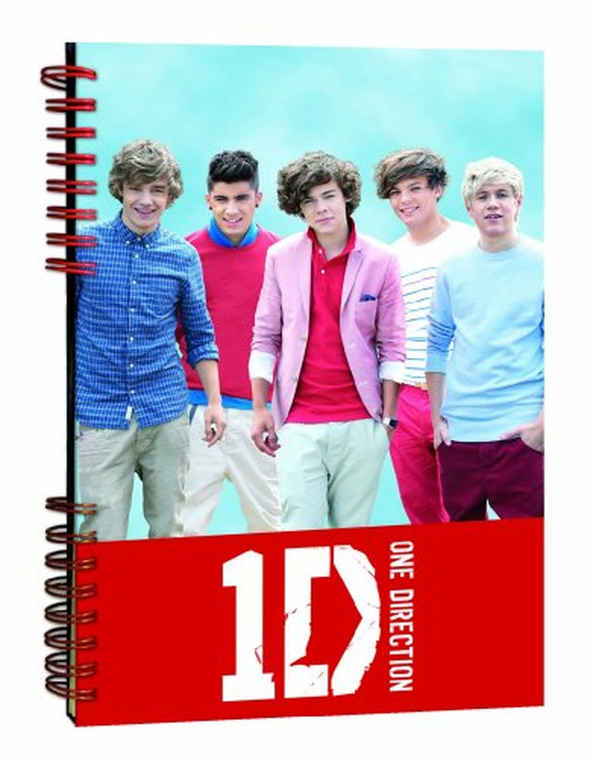 1D One Direction Notepad Journal Jotter Band Photo Early Days Pic Official Retro